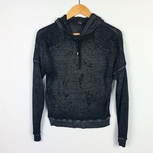 MATERIAL GIRL ACTIVE black hoodie size L
